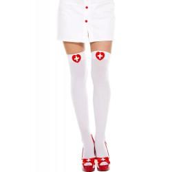 Bas opaque, haut avec une croix dans un cœur, infirmière