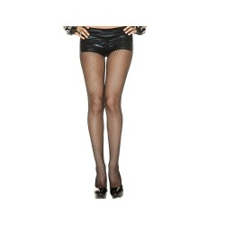 Collant fantaisie spandex aspect filet fine résille