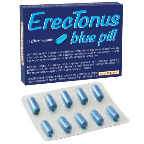 ErecTonus blue pill, aphrodisiaque homme x 10
