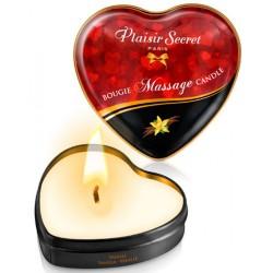 Mini bougie de massage à la vanille boîte coeur 35ml