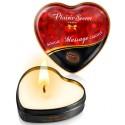 Mini bougie de massage au chocolat boîte coeur 35ml
