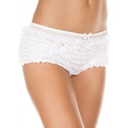Culotte rétro blanche froufrou sexy