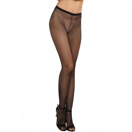 Collant couture nylon noir fine résille