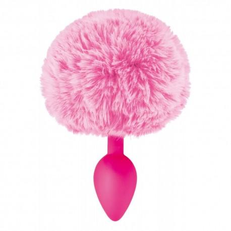 Plug anal pompon rose