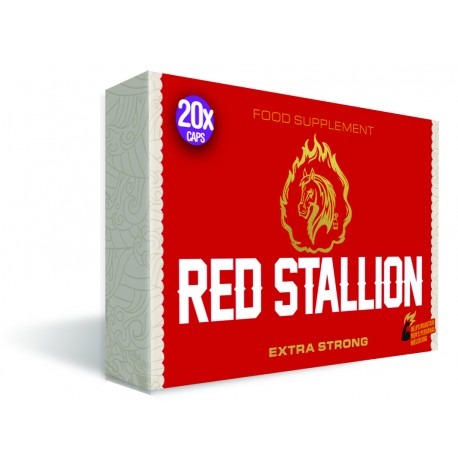 Aphrodisiaque homme Red Stallion, l'original ! boite de 20.