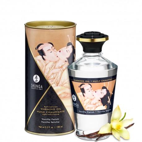 Huile de massage vanille chauffante comestible 100ml