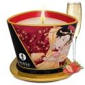 Bougie de massage fraise vin pétillant 170ml