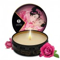Mini bougie de massage à la rose 30ml