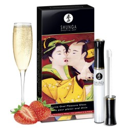 Gloss de plaisir oral fraise fin pétillant 10ml
