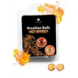 Boules de massage Brésiliennes effet chaleur