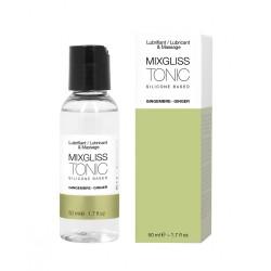2 en 1 Lubrifiant et huile de massage silicone Mixgliss Tonic Gingembre 50 ML - MG2320