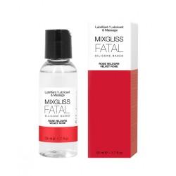 2 en 1 Lubrifiant et huile de massage silicone Mixgliss Fatal Rose velours 50 ML - MG2498